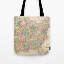 Vinage Map of The United States (1873) Tote Bag