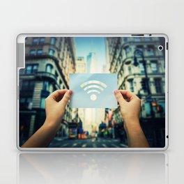 holding wifi symbol Laptop & iPad Skin