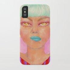 Glow up or die iPhone X Slim Case