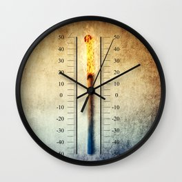 matchstick thermometer Wall Clock