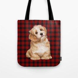 Tartan Dog Tote Bag