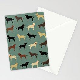 Labrador Retriever Dog Silhouettes Pattern Stationery Cards