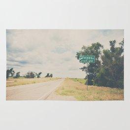 Texas state line ... Rug