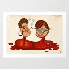Mum and Dad Art Print