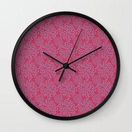 Neo Memphis Coordinate Pink Blue Wall Clock