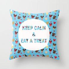 KEEP CALM & EAT A TREAT Throw Pillow