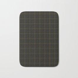 Gold Copper Geometric Chequered Mesh Vector Pattern Hand Drawn Bath Mat