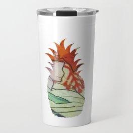 3 pineapples fabric Travel Mug