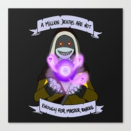A million deaths are not enough for Master Rahool Canvas Print