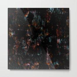 Abstract teal pink orange watercolor nebula galaxy brushstrokes Metal Print