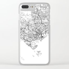 Singapore White Map Clear iPhone Case