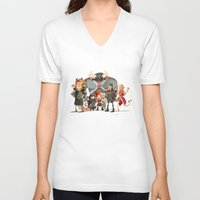 dungeons and dragons V-neck T-shirts featuring Dungeons and Dragons by Markus Erdt