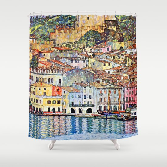 Gustav Klimt Malcesine on Lake Garda by jjbzz