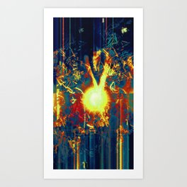 Fracture. Art Print