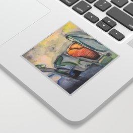 Halo gaming watercolor design Sticker