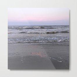 pink as the seafoam Metal Print
