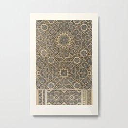 Vintage Arabian Pattern  Metal Print