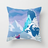 frozen Throw Pillows featuring Frozen by TheWonderlander