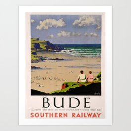 retro Bude old psoter Art Print