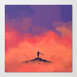 Cloudy Mountain Canvas Print