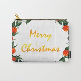 Christmas wreath with oranges Carry-All Pouch