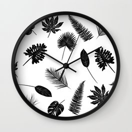 Botanical study - Fern Leaves pattern Wall Clock
