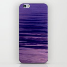 Movement of Water on a Calm Evening- Violet Abstraction iPhone Skin