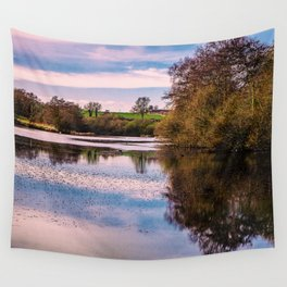 View over pond Wall Tapestry