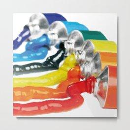 Rainbow color painting Metal Print