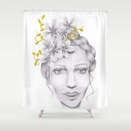 Golden Girl Shower Curtain