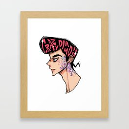 Crazy Diamond is Unbreakable Framed Art Print