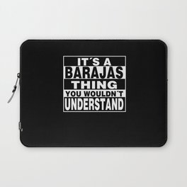 BARAJAS Surname Personalized Gift Laptop Sleeve