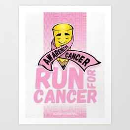 Run for Cancer, Cancer Awareness Art Print