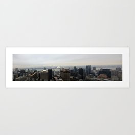 NYC West Side Panorama with Hudson River Art Print