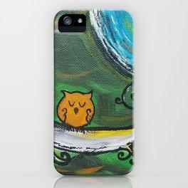 Owl Sleeps In iPhone Case