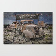 Vintage Auto Sales by Harv Canvas Print
