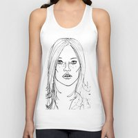 kate moss Tank Tops featuring Kate Moss by Erika's Art Shoppe