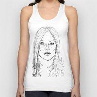kate moss Tank Tops featuring Kate Moss by Erika's Art Shoppe