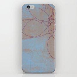 Leaves in Blue II iPhone Skin