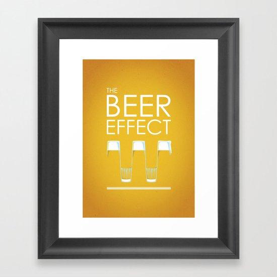 the beer effect Framed Art Print