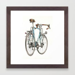brooklyn blue beauty Framed Art Print
