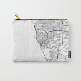 Minimal City Maps - Map Of Buffalo, New York, United States Carry-All Pouch
