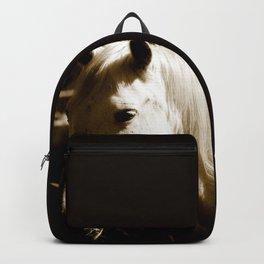 White Horse-Sepia Backpack