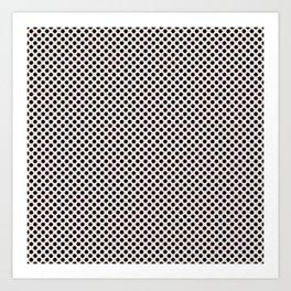 Bridal Blush and Black Polka Dots Art Print