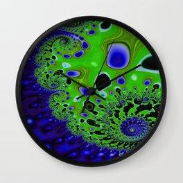 Emerald Indigo Lace Wall Clock