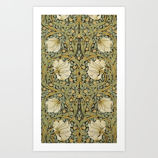 William Morris Pimpernel Art Nouveau Floral Pattern by artgallery