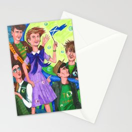 Life in the Cartoon World Was Pretty Easy at the Time Stationery Cards