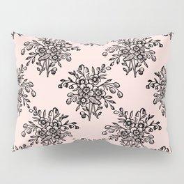 Block Bouquet Black Pink Pillow Sham