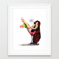 drink Framed Art Prints featuring Drink by Lucy Fidelis