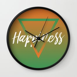 Happiness - Feelings series Wall Clock